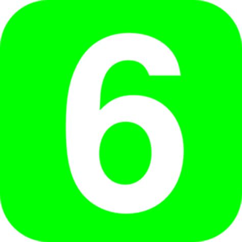 number six number 6 green clip at clker vector clip