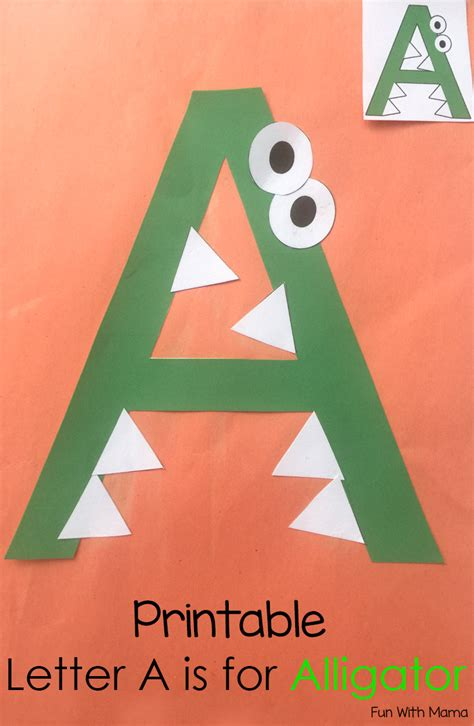 free arts and crafts for printable letter a crafts and activities