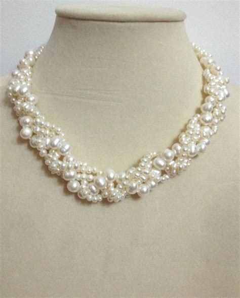 pearls for jewelry fresh water pearl hemp flower fried dough twist necklace