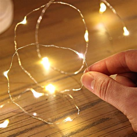 battery operated string light button cell battery operated led string lights led