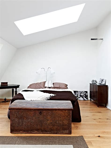 chocolate bedroom furniture mixture of and new furniture in a swedish apartment