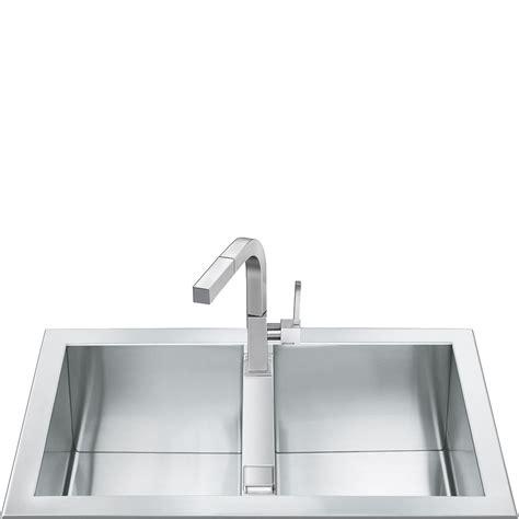 smeg lpd116s kitchen sink 2 bowls piano design sinks lqr862f 2 smeg
