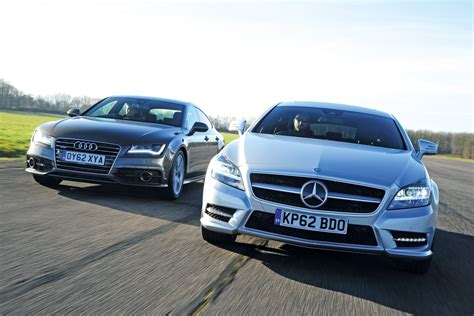 Mercedes Vs Audi by Mercedes Cls Shooting Brake Vs Audi A7 Pictures Auto Express