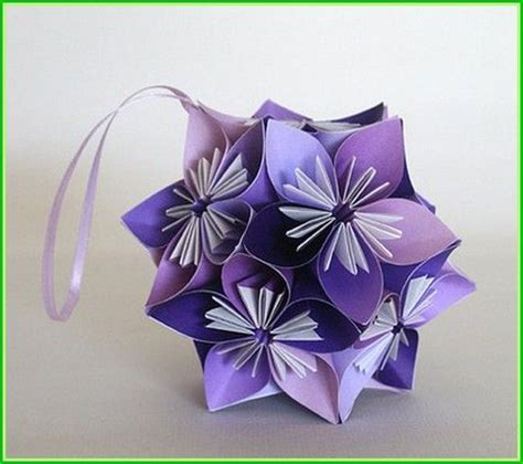 origami flower balls origami flower wedding projects to try