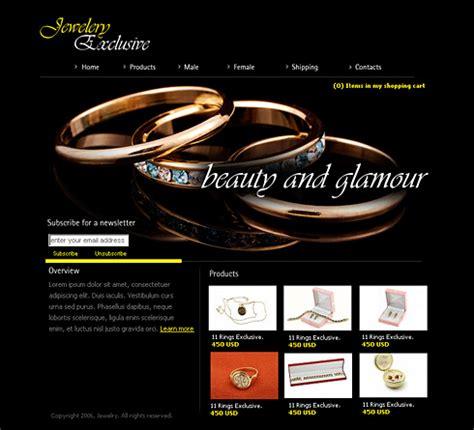 jewelry websites jewelry exclusive html template 0975 jewelry website