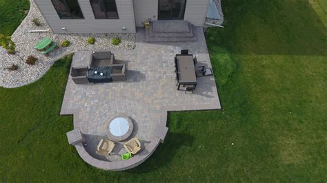 paver patio with pit backyard pit with seat wall and paver patio oasis