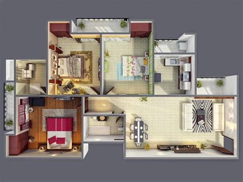 3 bedroom houses 3 bedroom apartment house plans