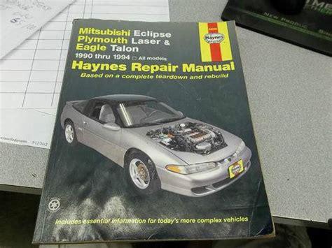 mitsubishi eclipse eagle talon repair workshop manual purchase haynes 1990 1994 mitsubishi eclipse plymouth laser eagle talon repair manual