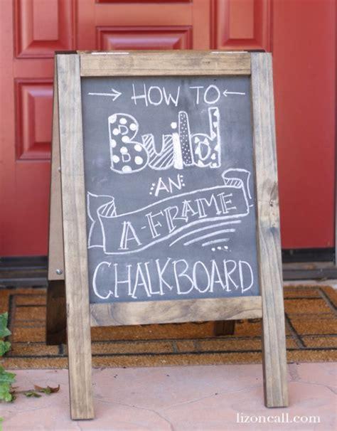 diy chalkboard sidewalk sign diy chalkboard sandwich board today s creative