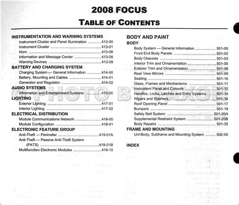 car repair manuals online pdf 2008 ford focus interior lighting 2008 ford focus repair shop manual original