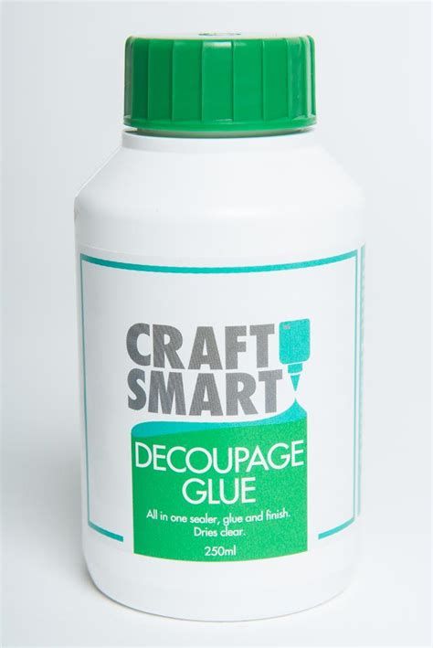 decoupage pva glue decoupage glue craftsmart 250 ml bott glue decoupage