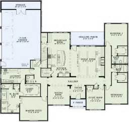 4 bedroom 4 bath house plans traditional style house plans 3415 square foot home 1 story 4 bedroom and 4 bath 3 garage