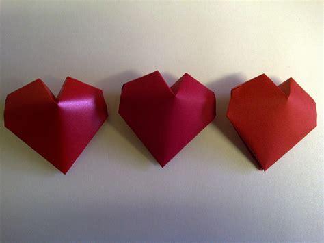 3d origami hearts simple 3d origami comot