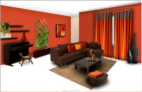 paint color combination for living room orange wall interior color basement garage modern house