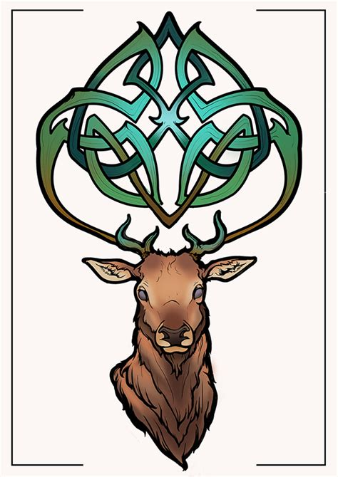 elk tattoo design by predictableboredom on deviantart