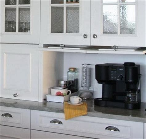 kitchen appliance storage ideas 40 appliance storage ideas for smaller kitchens removeandreplace