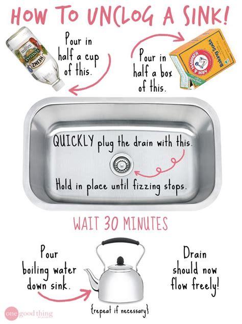 unclog kitchen sink naturally best 25 unclogging sink ideas on unclog sink