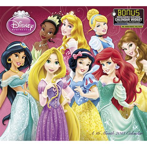 2018 disney princess wall calendar mead disney princess 2013 wall calendar calendars
