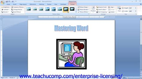 Microsoft Office Word 2013 Tutorial Using Clip Art 12.5 ... Word 2007 Clipart Not Working