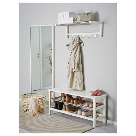 ikea bench with storage tjusig bench with shoe storage white 108x50 cm ikea