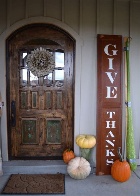 decoration front door 30 cozy thanksgiving front door d 233 cor ideas digsdigs