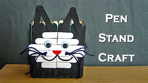 craft work for in sticks pen stand craft for how to make pen stand from