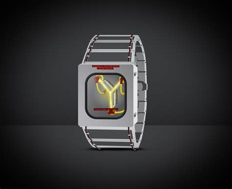 back to the future flux capacitor watch art geektyrant