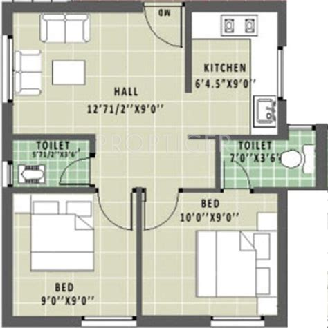 floor plan for 600 sq ft apartment 600 sq ft 2 bhk 2t apartment for sale in annai aathika