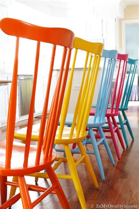 spray painting kitchen chairs furniture makeover spray painting wood chairs in my own