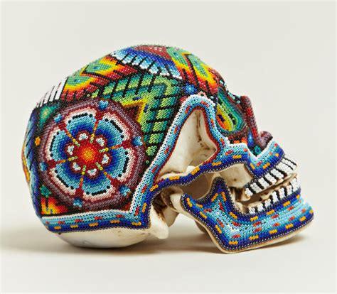 huichol beaded skulls beaded skulls huichol of mexico 2 171 twistedsifter