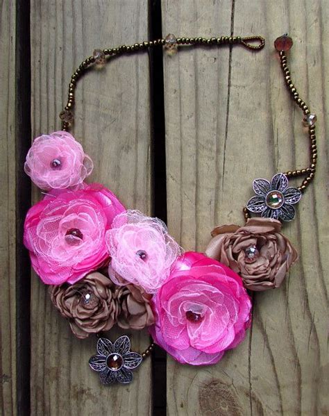 how to make flowers into jewelry how to make fabric flowers and how to make them into a