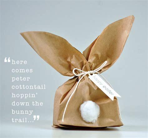 paper bag bunny craft simple bunny gift wrap idea paper bag crafts