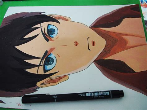 acrylic painting anime attack on titan acrylic painting by myway1540 on deviantart