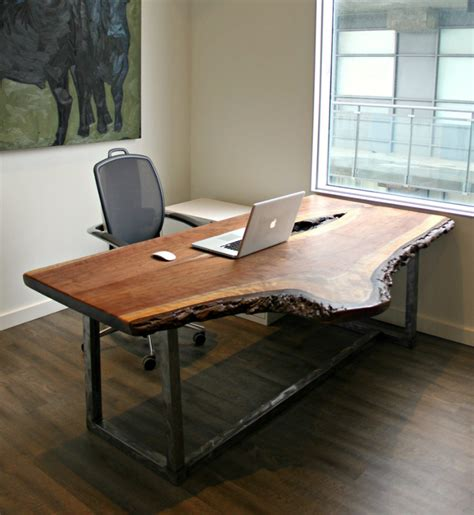 lie desk make your office more eco friendly with a reclaimed wood desk