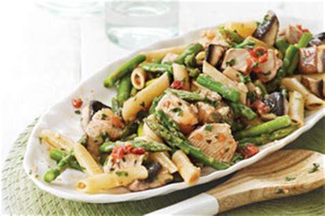 asperges de l ontario et salade de p 226 tes au poulet avec vinaigrette piquante ontario terre