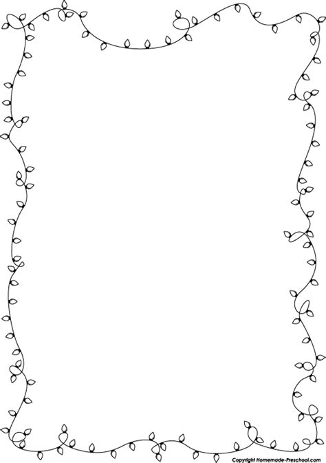 lights page border black and white clipart borders clipartxtras