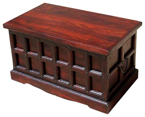cherry coffee table with storage cherry wood storage chest trunk box coffee table