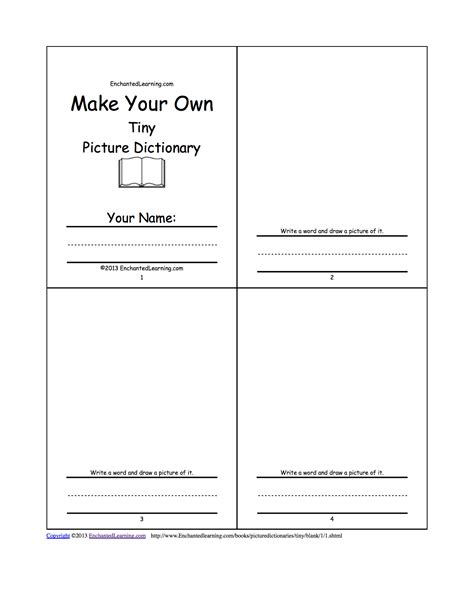 make your own picture book make your own tiny picture dictionary a book to