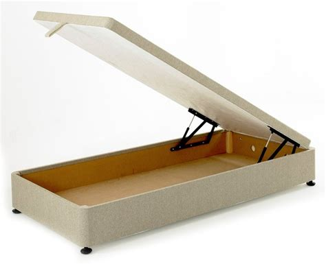 regent 3ft single ottoman storage divan bed base in beige