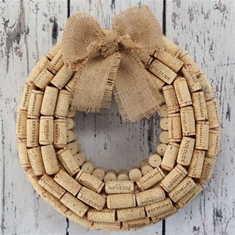 wine cork crafts for simple diy wine cork wreath