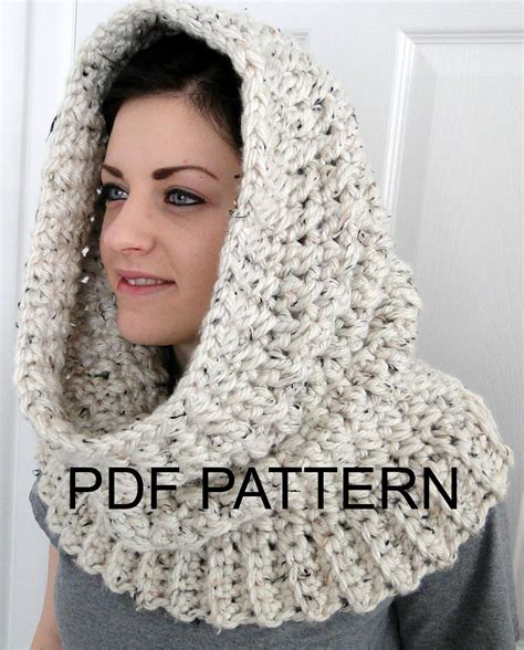 hooded cowl knitting pattern hooded neck warmer cowl scarf for quot winters comfort