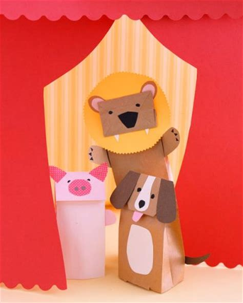 puppet crafts for paper bag animal puppets family crafts