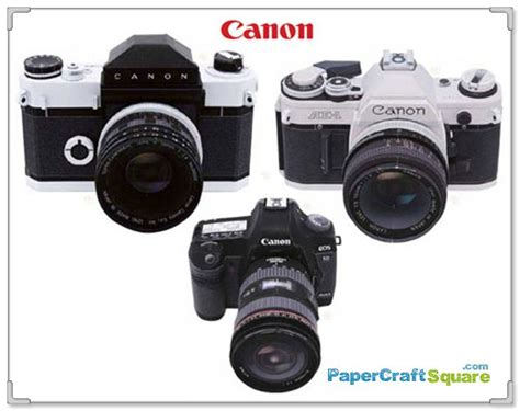 canon paper crafts the ultimate canon slr dslr papercrafts canonflex ae 1