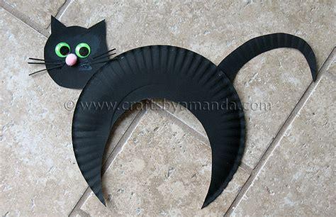 cat craft for paper plate black cat kid s craft