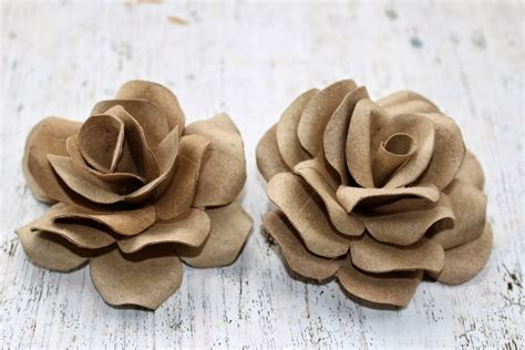 empty toilet paper roll crafts diy how to make roses using empty toilet tissue