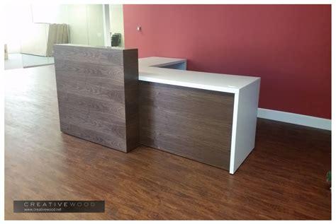 wooden reception desk reception