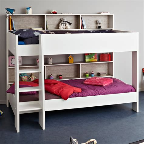 grey bunk beds childrens bunk bed in white grey tam tam bunk beds