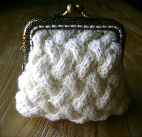 knitted purses tiny coin purse by florriemarie craftsy