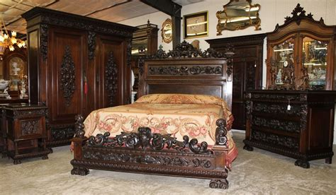 antique furniture bedroom sets antique carved italian walnut 19th century five