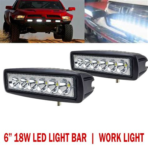 6 inch led light 18w 6 inch led light bar work light offroad 4wd suv atv boat
